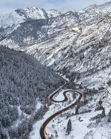 S-Curve in Big Cottonwood Canyon