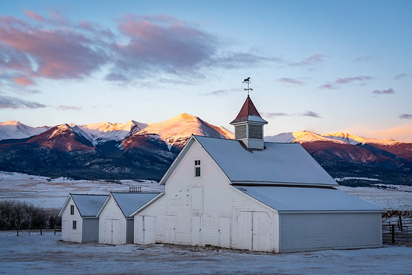 Beckwith Ranch Sunrise, Westcliffe, CO.