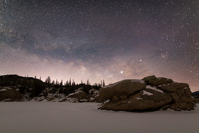Milky Way season returned February 2nd at 5:00 AM.  It was -10 F at Eleven Mile Reservoir.
