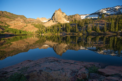Sundial Peak Reflection on Lake Blanche