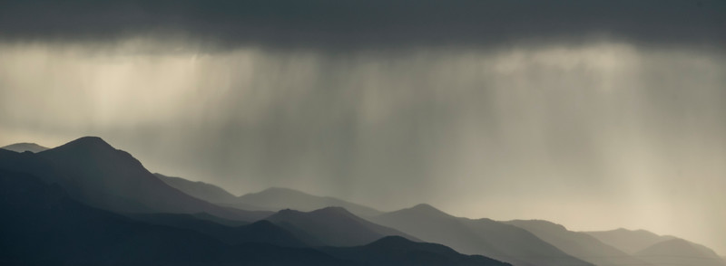 Rain showers over the Pikes Peak region.