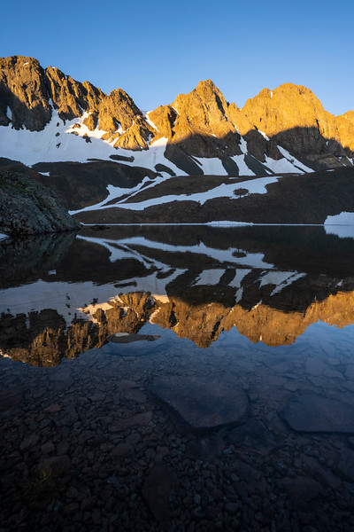 Sunrise in the San Juan Mtns on Sloan Lake, elevation 13,000 ft.