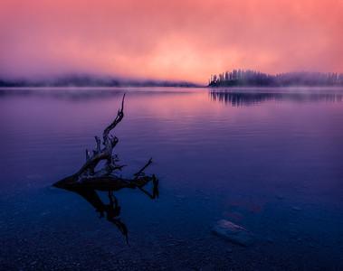 Upper Lake Abstract 2, Kananaskis