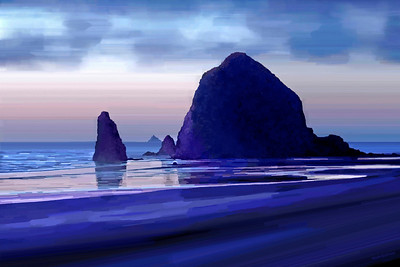 Hay Stack Rock - Cannon Beach, Or