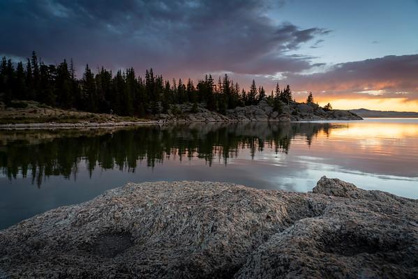 Sunset on Elevenmile Reservoir.