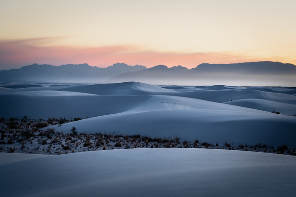 Colorful Skies over the San Andres Mountains overlooking White Sands N.P.
