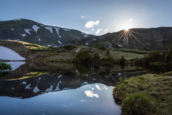 Last light on one of the lower Ptarmigan Lakes, Chaffee County, CO