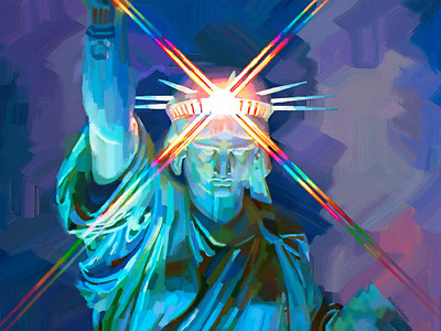 Stature of Liberty New York - Digital Painting