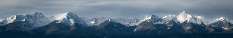 Sangre de Cristo Mountains panoramic
