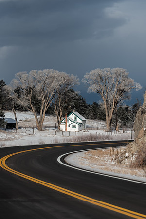 Farmhouse north of Westcliffe, CO.