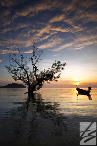 "(51) - Sunrise - Krabi, Thailand - 24"" x 36"" metal print (was $450) now = $225"