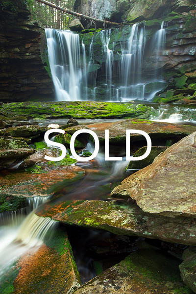 "**SOLD** (21)  - Elakala Falls - Davis, West Virginia - 20"" x 30"" metal print (was $250) now = $125"