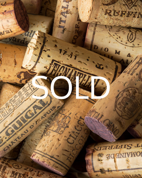 "**SOLD** (27) - ""Reds"" - Wine Corks (vertical) - 12"" x 15"" metal print (was $125) now = $60"