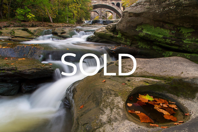 "**SOLD** (24)  - Berea Falls - Berea, Ohio (horizontal) - 12"" x 18"" metal print (was $150) now $75"