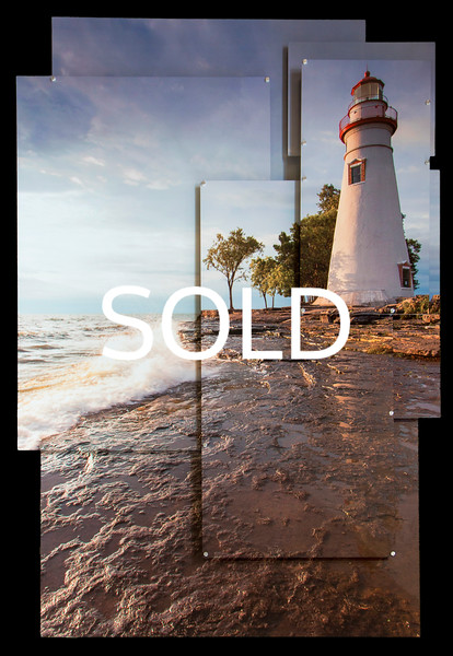 "**SOLD** (33) - Marblehead Lighthouse - Marblehead, Ohio - 40"" x 60"" metal print - art wall (was $3000) now = $1500"