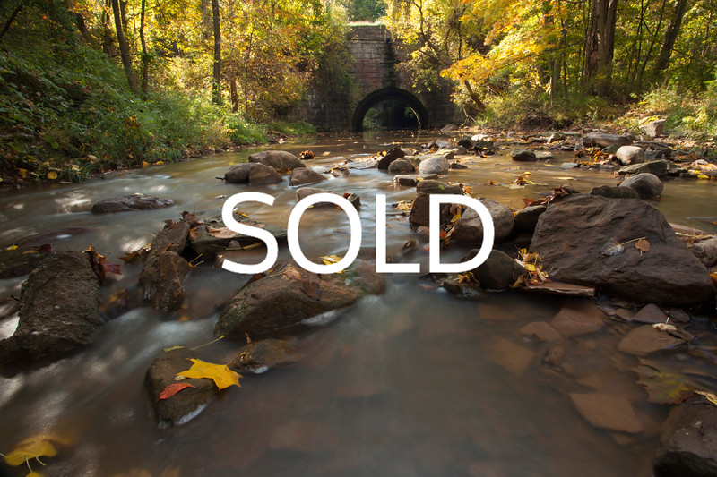 "**SOLD** (58)  - Fall on the Beaver Creek - Amherst, Ohio - 24"" x 36"" metal print (was $450) now = $225"