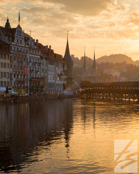 "(8) - Sunrise - Lucerne, Switzerland - 16"" x 20"" metal print (was $145) now = $70"