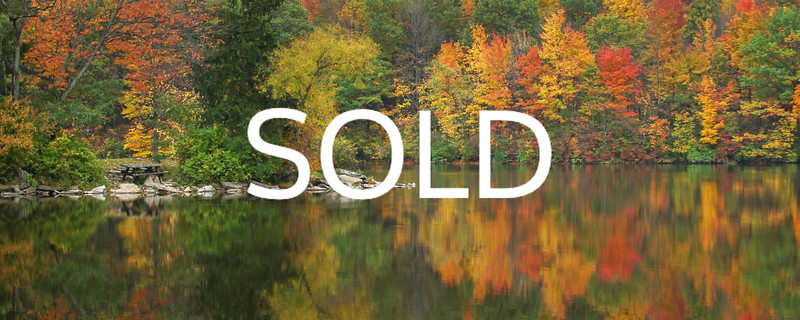 "**SOLD** (43)  - Fall Reflections - Findley State Park - Wellington, Ohio - 12"" x 30"" canvas wrap (was $150) now = $75"