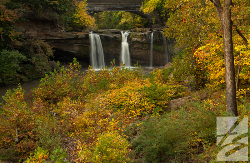 "(56)  - West Falls - Cascade Park - Elyria, Ohio - 46"" x 30"" metal print (was $750) now = $375"