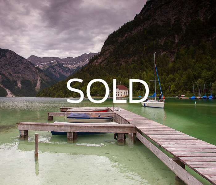 "**SOLD** (45)  - Austrian Lake - 24"" x 28"" metal print (was $300) now = $150"
