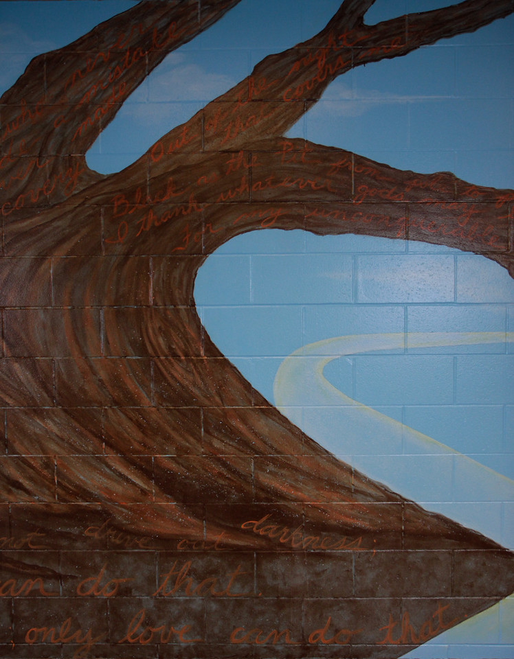"9.   ""Wisdom Tree"" mural, right detail. 2010"
