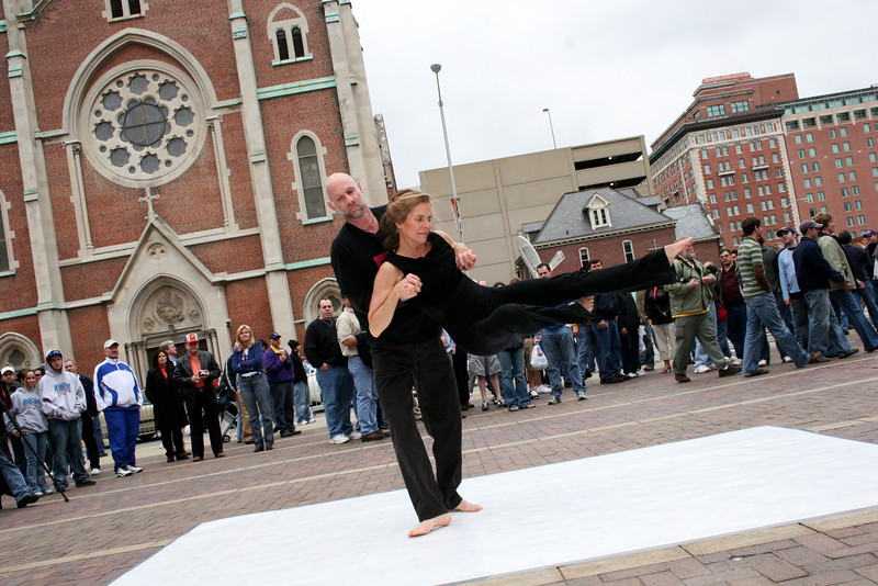 3.   Rhythms of Life NCAA Final Four Performance in front of Convention Center. Carol Tharp-Perrin, director and dancer. 2008
