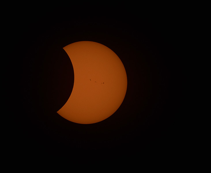 suns spots during solar eclipse