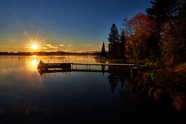 Fall sunburst