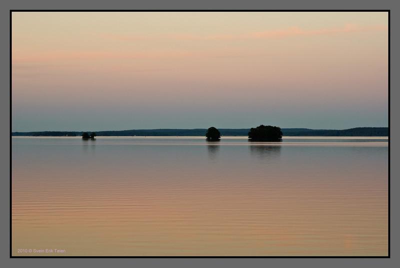 Small islands at dusk