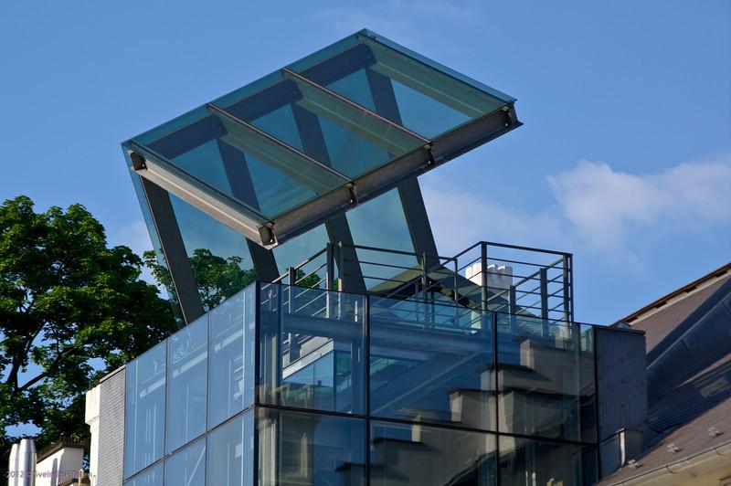 Stairway roof<br /> Art museum, Prague