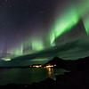 Northern lights over Nyksund, Christmas day 2013 - II
