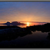 Midnight sun over Landegode, Bodø - 01.00 at night