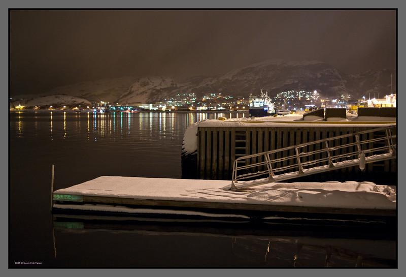 Winter harbor<br /> Hurtigruten quay, Bodø