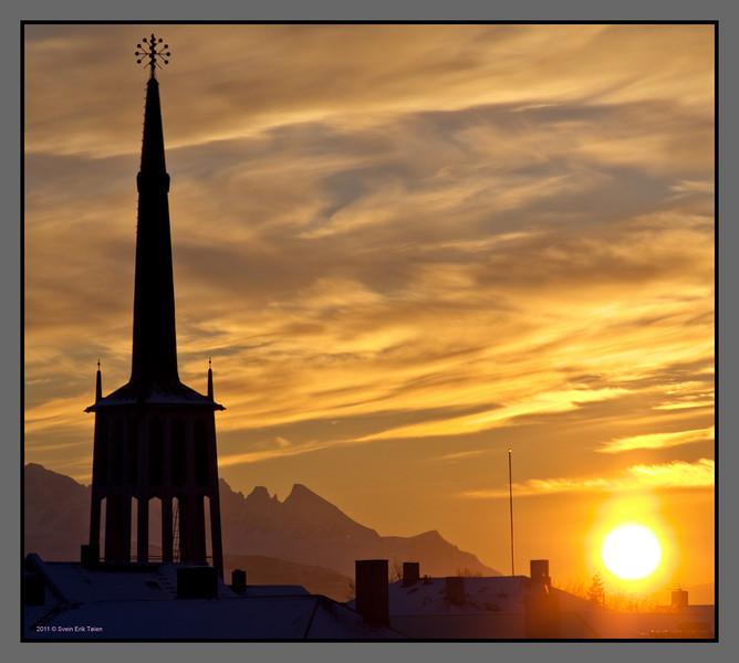 The sun is back, january 17.<br /> Bodø