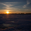 As the sun started to set I started to look for bare ice to reflect the oncoming colors in the sky.