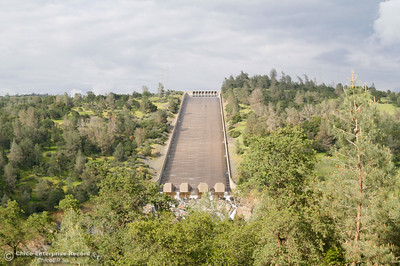 Water flows in ripples down The Spillway Monday April 11, 2016 in Oroville, Calif. The Spillway was recently opened for the first time in 5 years because of rise in Lake Oroville's water level from winter rains. (Emily Bertolino -- Enterprise-Record)
