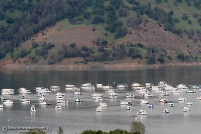 As Lake Oroville's levels rise more houseboats are able to go back into the water April 14, 2016 in Oroville, Ca. Recent rains have brought the lake level up significantly. (Emily Bertolino -- Enterprise-Record)