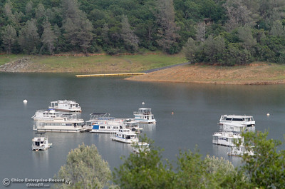 A view of the Loafer Creek Boat Launch from Bidwell Canyon Marina April 14, 2016 in Oroville, Ca. Recent rains have brought the lake level up significantly. (Emily Bertolino -- Enterprise-Record)