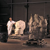 Lars Compitalis (during construction)<br /> <br /> Chillagoe marble, Gosford sandstone, steel. 1999<br /> <br /> Commissioned by Loy Yang Power and Monash University with assistance from the Australia Council, a gift to the people of the La Trobe Shire