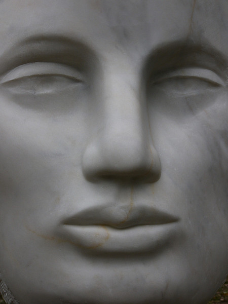 Muse (detail)<br /> Chillagoe marble,steel, 2005, H235 x W80 x D80 SOLD - Private collection