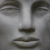 Muse (detail)<br /> Chillagoe marble,steel, 2005, H235 x W80 x D80 SOLD