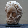 Philosopher (small version) 2006, Chillagoe marble on granite base, H.27.5 W.23 D.19cm. Sold