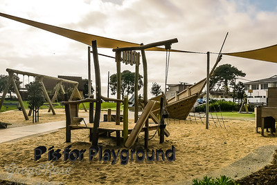 P is for Playground with its own Pirate ship!!