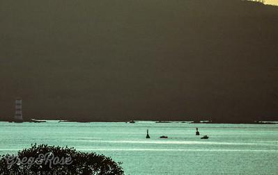 Early Morning Fishing near Rangitoto Light House.