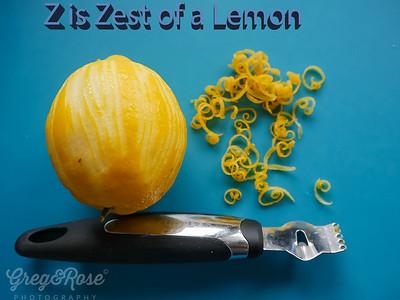 Z is Zest of a Lemon