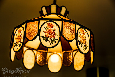 L is for Leadlight Lamp