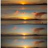 Stages of sunrise and shower cloud