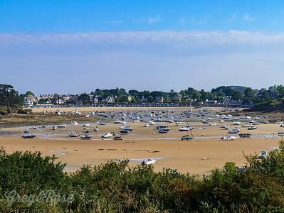 Stranded Boats at Lancieu , Brittany