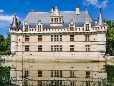 Le Château d'Azay le Rideau and Moat