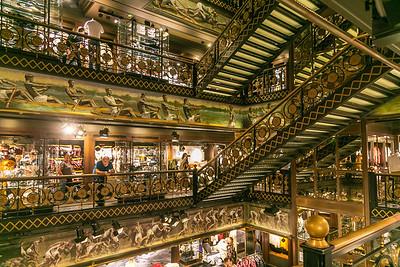 Elaborate Interior of Abercrombie and Fitch Paris